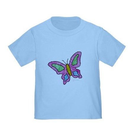 toddler girl's pink butterfly t-shirt