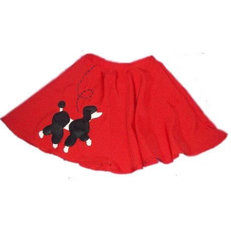 toddler girl's poodle skirt