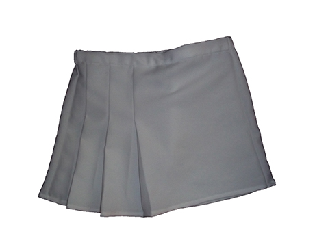 girl's side pleat tennis skirt