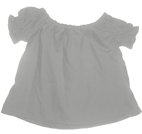 toddler girl's short sleeve peasant blouse