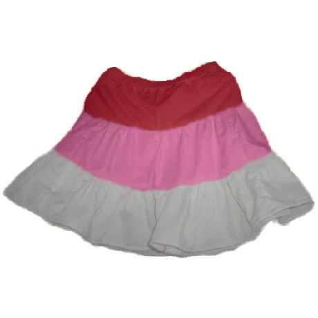 toddler girl's multi-colored tiered gypsy skirt