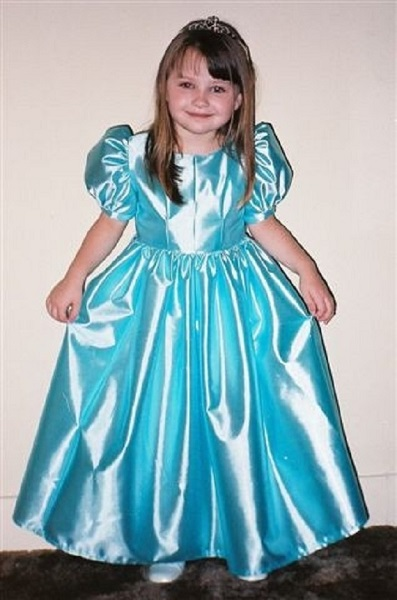 girl's satin retro renaissance dress