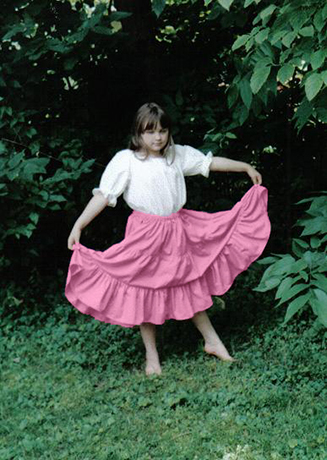 girl's tiered gypsy skirt