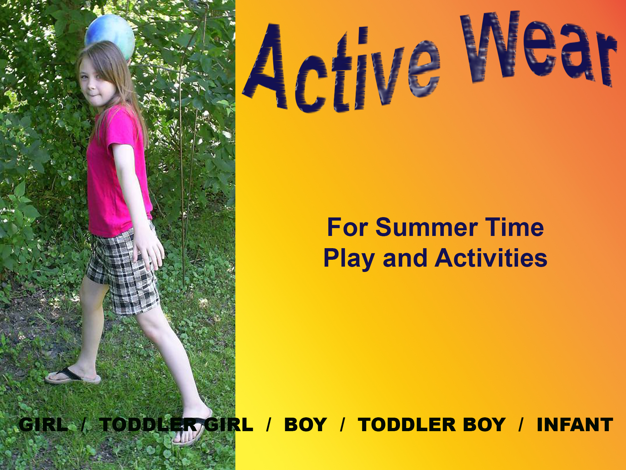 Rosebud Children's Fashions by Gothique Rose Apparel Active Wear - For summertime play and activities