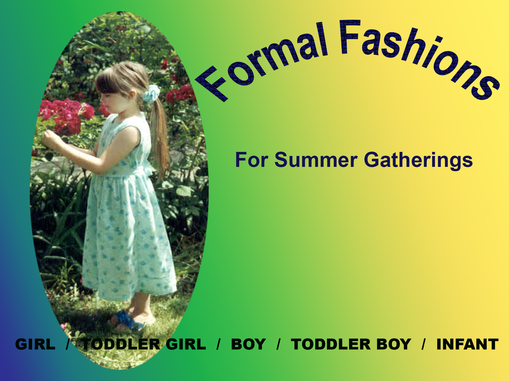 Rosebud Children's Fashions by Gothique Rose Apparel Formal Fashions - For Summer Gatherings